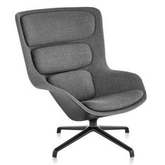 Striad High Back Lounge Chair, 4 Star Base