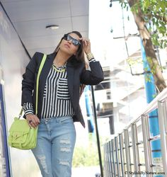 #fashion #style #neon #stripes #monochrome #ripped #denims #ss13 #colors