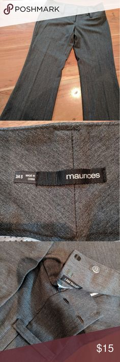 Slacks Charcoal grey, non-textured, never been worn slacks! Perfect for business attire or a interview. Still has the ironed pleet from the rack! Pair with one of my Knox Rose tops and you'll be styling your next day at the office 👓 Maurices Pants Boot Cut & Flare