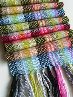 Eye-catching Handwoven Scarf £80.00 inspiration for colors