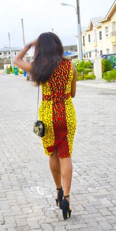 Ankara dress.