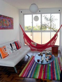 Los elementos colgantes como las hamacas son tendencia en decoración #tendencias #decoracion #verano15 #trends #trendalert #decoration #summer15