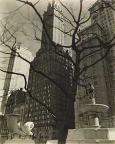 Central Park Plaza, from Fifth Avenue at 58th Street, from the series Changing New York    1937 Berenice Abbott