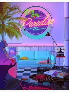 Neon Aesthetic, Aesthetic Bedroom, Aesthetic Makeup, Aesthetic Vintage, Photo Wall Collage, Picture Wall, Purple Tumblr, Neon Licht, Retro Room
