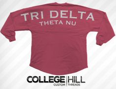 TRI DELTA, TRI TRI TRI DELTA! Oversized Jersey.  Get in on the voting! Help is win :) Vote TriDelta Theta Nu!