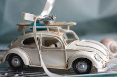 Beach Wedding Surfboard Ring Bearer Pillow  by ByTheSeashoreDecor