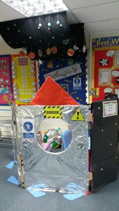 Space Rocket Role Play Space Classroom, Classroom Decor Themes, Classroom Ideas, Dramatic Play Area, Dramatic Play Centers, Space Activities, Preschool Activities, Sistema Solar, Early Years Classroom