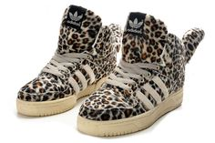 Adidas Jeremy Scott Originals JS Leopard Bear Shoes