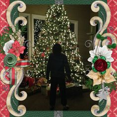 I told my son to stand in front of the tree and caught his silhouette.   PattyB Scraps - Merry Little Christmas, December Mixology 2014 http://www.godigitalscrapbooking.com/shop/index.php?main_page=index&cPath=234_376&sort=20a&filter_id=149&alpha_filter_id=0