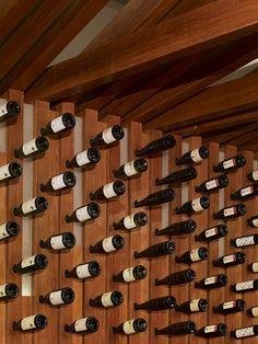 {bottle installation} Bodega Wine Bar by MAKE Architecture, Hollywood