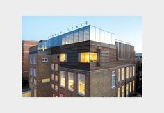 The extension sits on top of the Orange Street school, which was converted into the Jerwood Space 10 years ago