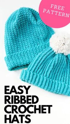 Learn how to make this easy ribbed crochet hat using this free pattern. This simple hat is a great one for beginners. If you can crochet a rectangle you can make this hat # easy crochet hat Easy ribbed crochet hats for beginners Diy Crochet Hat, Easy Crochet Hat Patterns, Ribbed Crochet, Crochet Mittens, Crochet Hats For Girls, Crochet Toddler Hat, Childrens Crochet Hats, Crochet Hat Sizing, Crochet Adult Hat