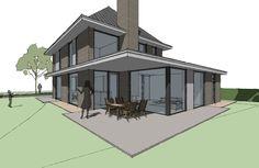 Achterzijde jaren 30 woning Modern Interior, Architecture Design, House Plans, Sweet Home, Floor Plans, House Design, Flooring, Mansions, House Styles