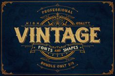 graphicdesignblg:  High-Quality Vintage Fonts and Shapes Bundle - Pay $19 instead of $90If you're looking to add a real rusty, vintage look to your designs, this Deal has your name on it! These 4 Vintage Fonts and Shapes Bundles from graphic designerAgung Gumilang are as different from each other as they are fabulous. This set includes: Lakester Font Family, GRIBA typeface, Authentic Vintage Labels, and Vintage Vector Elements and Textures.Download it here:http://bit.ly/1zKGKLN