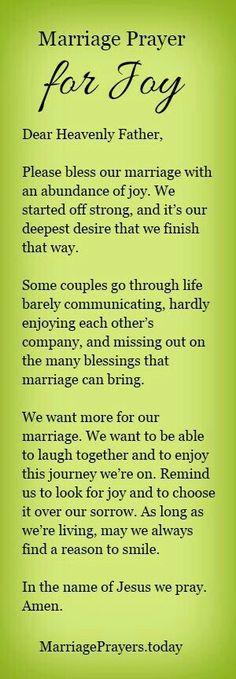 Marriage Prayer for joy