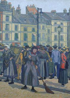 La Vielle Bayeuse, Dieppe.  Charles Ginner (1913). Oil on canvas.  Tate Museum. (Tate)
