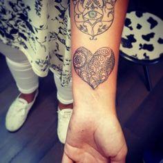 Tattoo Maori Herz Unterarm