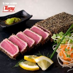 It's Tuna Tuesday and you can't go wrong with perfectly seared Tuna. Grab one of our yummy Tataki rolls or salads today for dinner. Tuna Recipes, Seafood Recipes, Cooking Recipes, Healthy Recipes, Healthy Food, Seafood Meals, Atun Tuny, Miami Restaurants, Gourmet