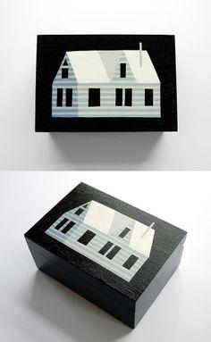 Hand Painted Wooden Boxes - Eleni Kalorkoti