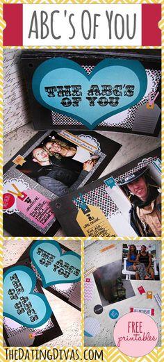 ABC's Of You Photo Alphabet Book   The Dating Divas