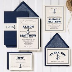 Nautical Wedding Invitation | Paper Source