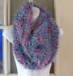 Water colors super soft fuzzy cowl infinity by MatsonDesignStudio, $30.00