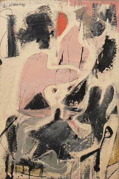 "Valentine  Willem de Kooning (American, born the Netherlands. 1904-1997)    (1947). Oil and enamel on paper on board, 36 3/8 x 24 1/4"" (92.2 x 61.5 cm). Gift of Mr. and Mrs. Gifford Phillips. © 2012 The Willem de Kooning Foundation / Artists Rights Society (ARS), New York"