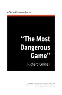 the super bowl of hunting and ldquo the most dangerous game rdquo essay the most dangerous game by richard connell enotes response journal