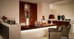 Spa reception Vienna Hotel, Spa Reception, Hotels, Front Desk, Hotel Offers, Relax, Indoor, Table, Interior