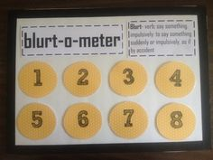 First, collect data!! My kids had 39 blurt outs in one hour! Wow! Then, come up with a reasonable goal and reward. Let the students give ideas for rewards. It will also help if you have a behavior replacement. I used Velcro on the back on the numbers. Whenever a student blurts, I will take the number off starting at 8. If they stay within the 1-8 number range, then they will receive a link on a paper chain. Once the chain touches the floor we're going to have a big shindig! Depending on your…