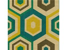 Groundworks HEXAGON TILE TEAL GWF-2901.453 - Lee Jofa New - New York, NY, GWF-2901.453,Lee Jofa,Print,0058,Yellow, Green,Green, Yellow,Heavy Duty,S,Softened,Up The Bolt,United Kingdom,Geometric,Multipurpose,Yes,Groundworks,No,KALEIDOSCOPE,HEXAGON TILE TEAL