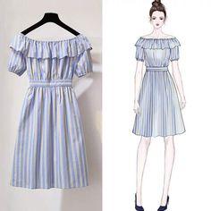 Korean Fashion – How to Dress up Korean Style – Designer Fashion Tips Asian Fashion, Look Fashion, Fashion Art, Girl Fashion, Fashion Dresses, Trendy Fashion, Fashion Ideas, Jw Mode, Dress Sketches