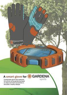 Gardena gloves and pedometer