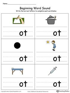 OT word family,OT words,OT word families,word family,phonics printables,cvc words,letter sound recognition,learning words,preschool worksheets,kindergarten worksheets