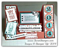 Pomp & Circumstance, Sweet Sorbet, Center Step Fold card, Making a Point, Memorable Moments, Graduation, Stampin' Up!