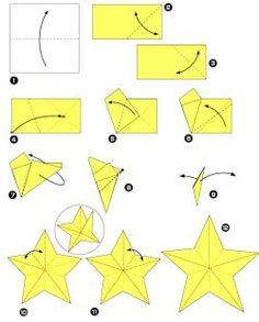 étoile origami: