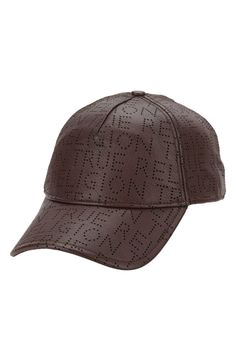 fcd7990fcbf59 Perforated Leather Cap