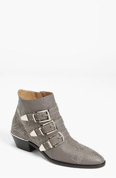 Chloé 'Suzanne' Stud Buckle Bootie available at Nordstrom