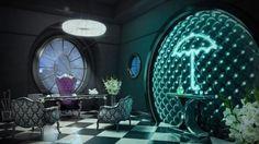 "JustGotham: @samadesigns: ""INT. Penguin's Office #gotham #season4 #concept art #illustration #sketchup #vray #photoshop  Via: Instagram"