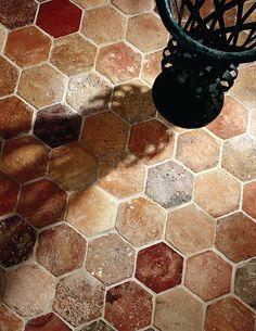 Exquisite Surfaces.  Hexagon Provenance: France Material: Antique Terra Cotta