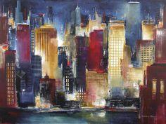 Windy City Nights Painting