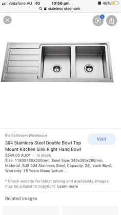 Bathroom Warehouse, Top Mount Kitchen Sink, Stainless Steel Sinks, 15 Years, 15 Anos, Stainless Steel Kitchen Sinks