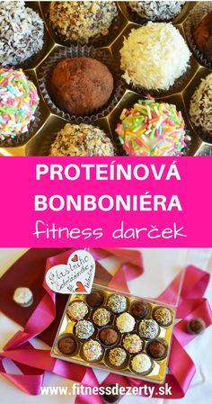 Zdravé fitness dezerty Recept na proteínové guličky, ktoré poslúžia ako zdravá bonboniéra venovaná všetkým FITNESS nadšencom ;-)