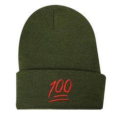 8aa991977e1 Capsule Design Emoji 100 Basic Ski Winter Beanie Hats Olive