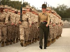 USMC Marine Corps Bootcamp Female Marines - no prouder moment than watching my daughter walk across the Parade Deck at Parris Island Us Marines, Female Marines, Female Soldier, Women Marines, Once A Marine, Marine Mom, Us Marine Corps, Marines Boot Camp, Drill Instructor