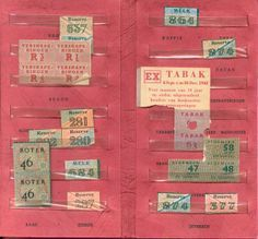 """Dutch ration folder-Clothing and more important food rations were part of the German control system. You needed coupons for purchasing these items. Yet to get coupons you had to be registered. This is one of the ways the German knew where the Jews were when the roundups began. nazi authorities ha a large """"J"""" stamp in ration books for Jews. Registering for rations was ncessary, for example to get food. It also meant that individuals could be called up for labor service in Germany."""