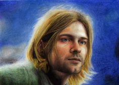 """Kurt Cobain"" Draw in pencils by Flopy Valhala #design #illustration #drawing #comics #conceptart #flopy #valhala #kurt #cobain #nirvana #art"