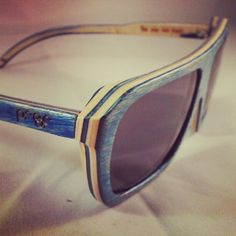 Proof wood eyewear made from skateboard decks. What do you think? Yes please!