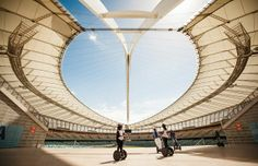 Segway tours at Moses Mabhida Stadium, Durban – South African Tourism City By The Sea, Kwazulu Natal, Football Stadiums, Civil Engineering, Where To Go, East Coast, South Africa, Tourism, Surfing