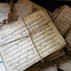 ...love old music sheets!